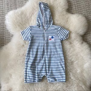 Kissy Kissy Terry Romper, Size 9 Months